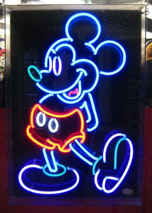 neon mickey