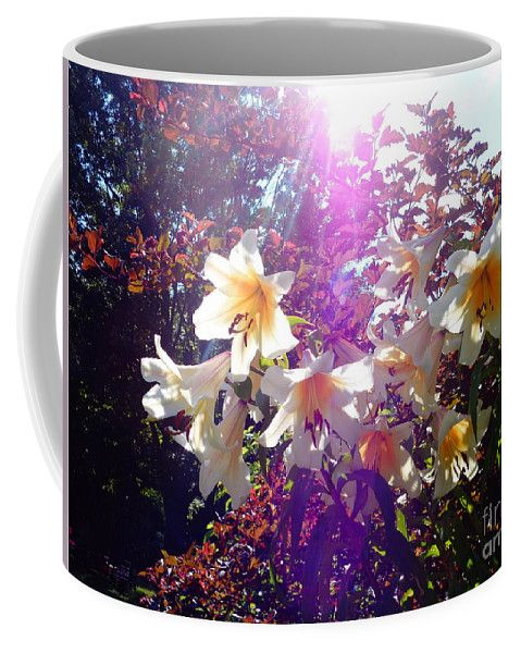 Garden Coffee Mug featuring the photograph Garden Affair Lilium by Lyssjart Sj