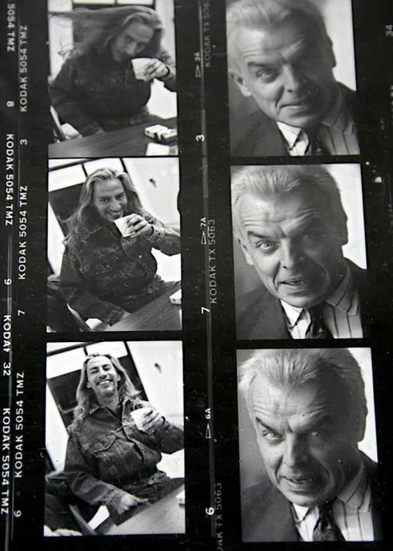 Proof sheet of Frank Silva and Ray Wise on the set of the Twin Peaks.: