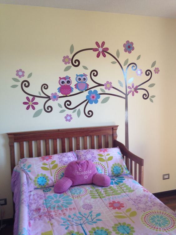 decoration with owls for girls