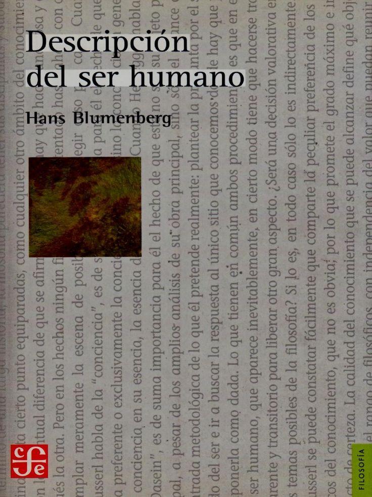 Hans Blumenberg | La Descripción del ser humano