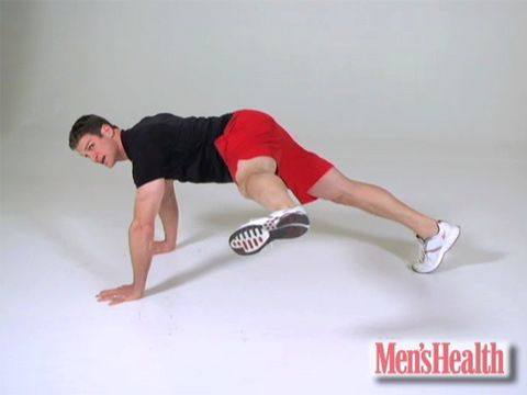 The Exercise That Blasts Your Lower Abs | Men's Health- works for us ladies too! Yay mogul jumps!