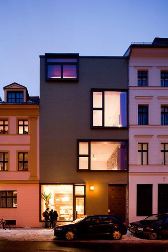 Berlin-Mitte, Berlin townhouse - modern exterior nytimes by ooh_food, via Flickr