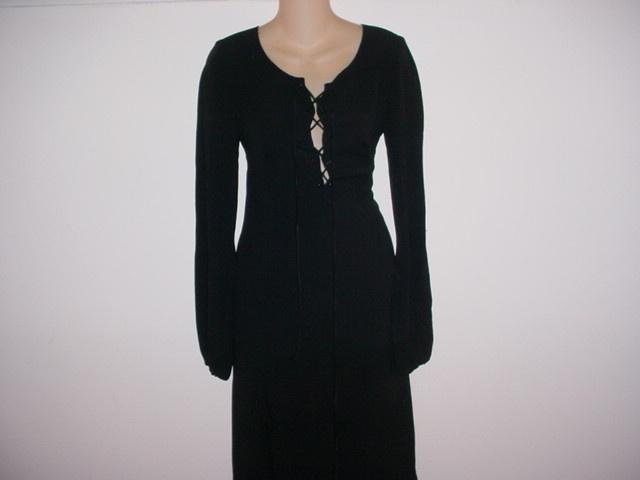 Black+Peplum+Dress+With+Sleeves