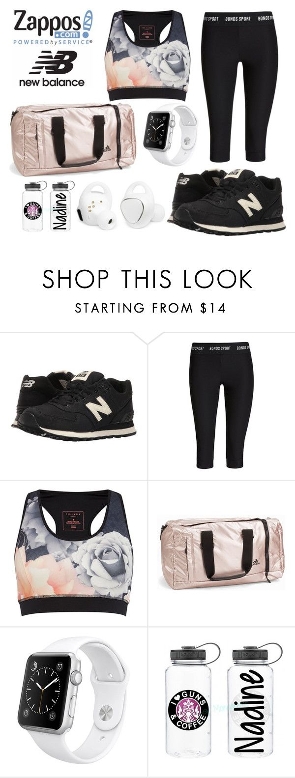 """Run the World in New Balance"" by bloguerosa on Polyvore featuring New Balance Classics, Bonds, Ted Baker, adidas, Apple, Samsung and NewBalance"