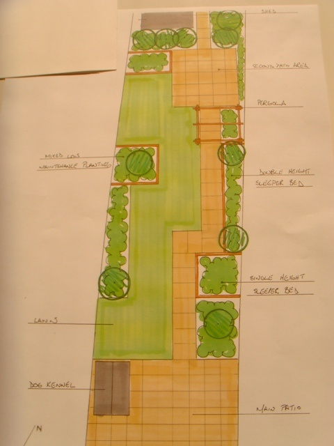 25 best images about long narrow garden ideas on pinterest for Narrow back garden designs