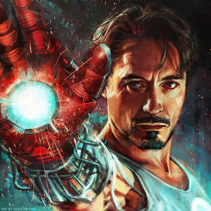 Tony Stark - Iron Man by Alice X. Zhang * I SOOO wish I could find these to hang in my home!!!