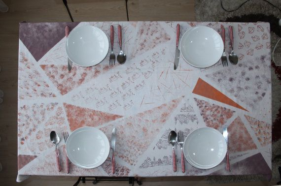 Check out this item in my Etsy shop https://www.etsy.com/listing/264531866/triangle-tablecloths