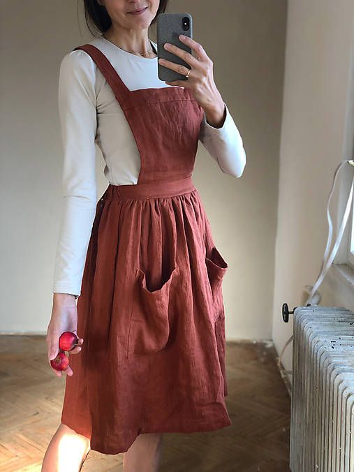 b0da7a50fa27 Dámska ľanová sukňa na traky   SIMPLY GREY v roku 2019