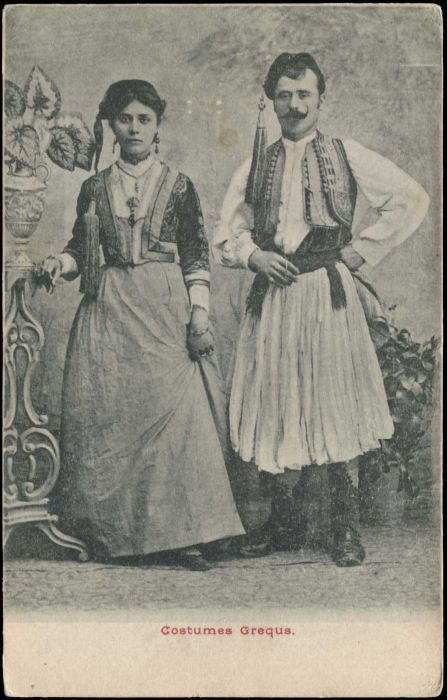 """Greece - Picture Postcards Athens And Area. """"Costumes Greques."""""""