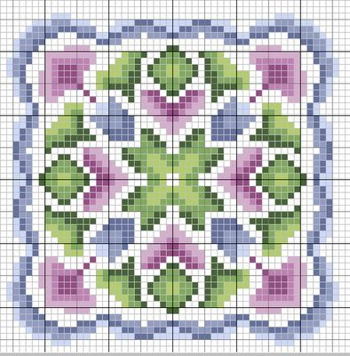 Biscornu Freebie Patterns... no color chart available, just use the pattern chart as your color guide.. or choose your own colors...  | Visit gazette94.blogspot.ca