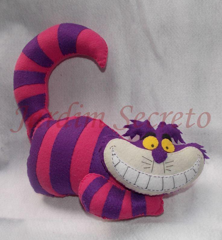 Gato da Alice - Cheshire Cat - feltro/felt - Alice in Wonderland