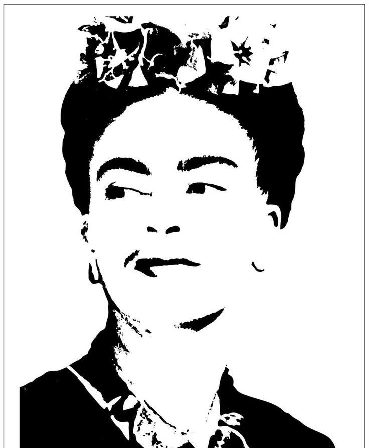 Painter Frida Kahlo #3 on Reusable 10MIL Laser-cut Stencil