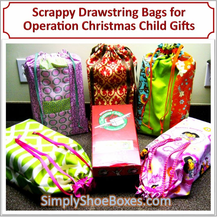 scrappy drawstring bags tutorial  #giftwrap alternative