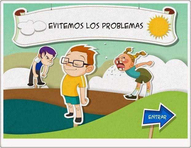 """""""Evitemos los problemas"""" es una aplicación de la plataforma Agrega que plantea a los niños distintas situaciones conflictivas y da la opción para elegir el modo más civilizado de solventarlos."""