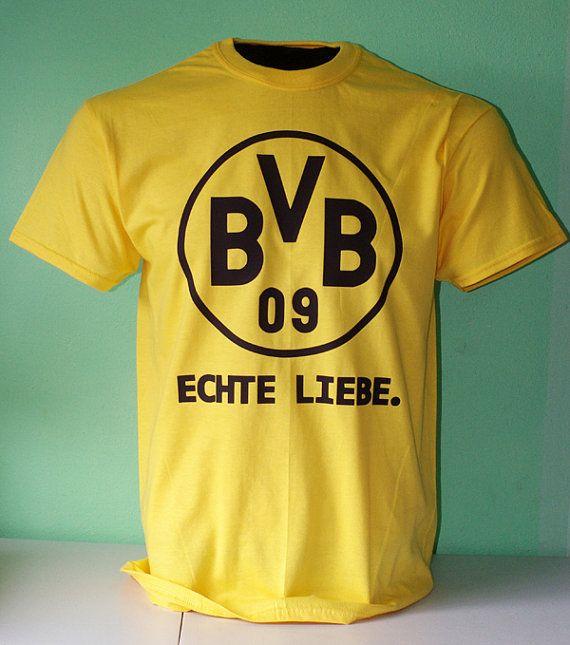 Borussia Dortmund Football Soccer T Shirt - Echte Liebe - True Love on Etsy, $17.99