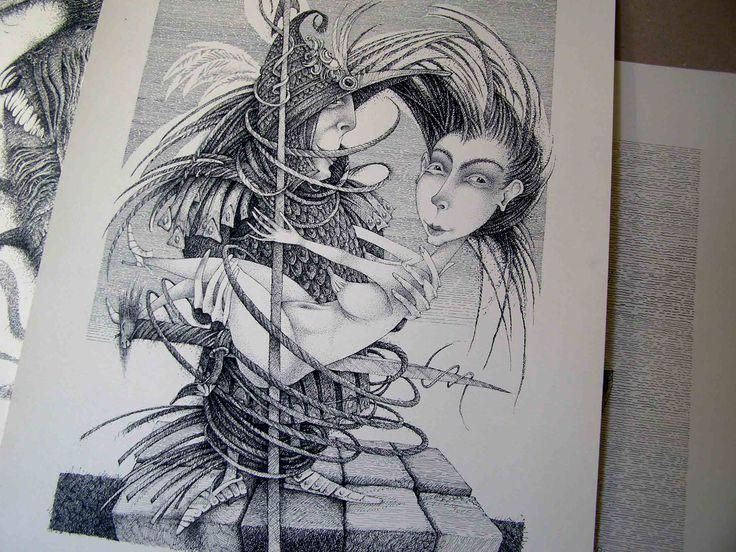 Paper, ink, pen, size 50 x 70 cm www.hrapov.com