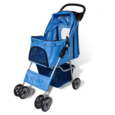Cat Dog Pet Stroller Travel Park Case Small Medium Storage Transport Carriers