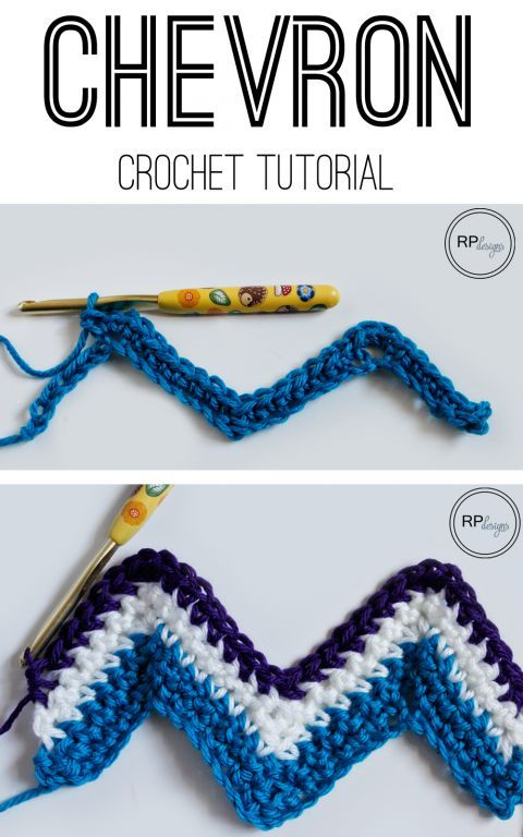 Chevron Crochet Tutorial from Rescued Paw Designs