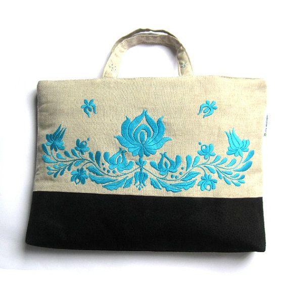 Hungarian folk motif hand embroidery