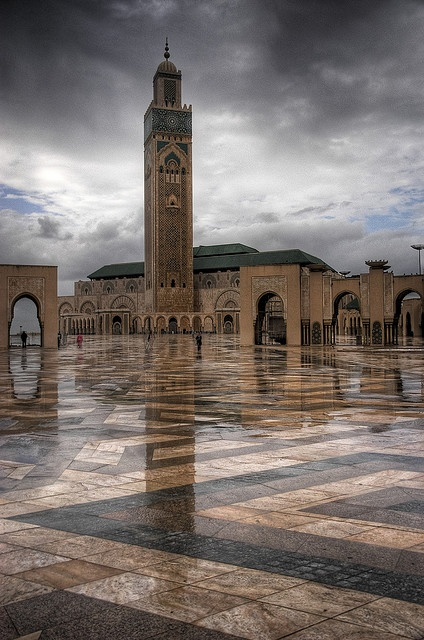 the Grand Mosque of Hassan II, Casablanca, Morocco.