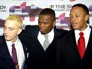 Eminem, 50 Cent and Dr. Dre