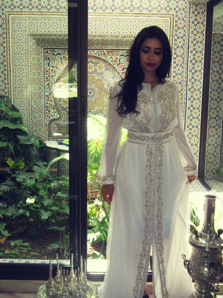 Moroccan traditional dresses for weddings (white)