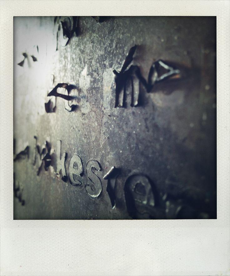 Letters falling
