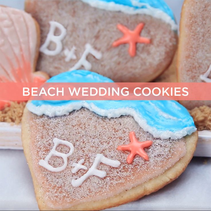 These Beach Wedding Cookies Make Us Want To Get Married Stat