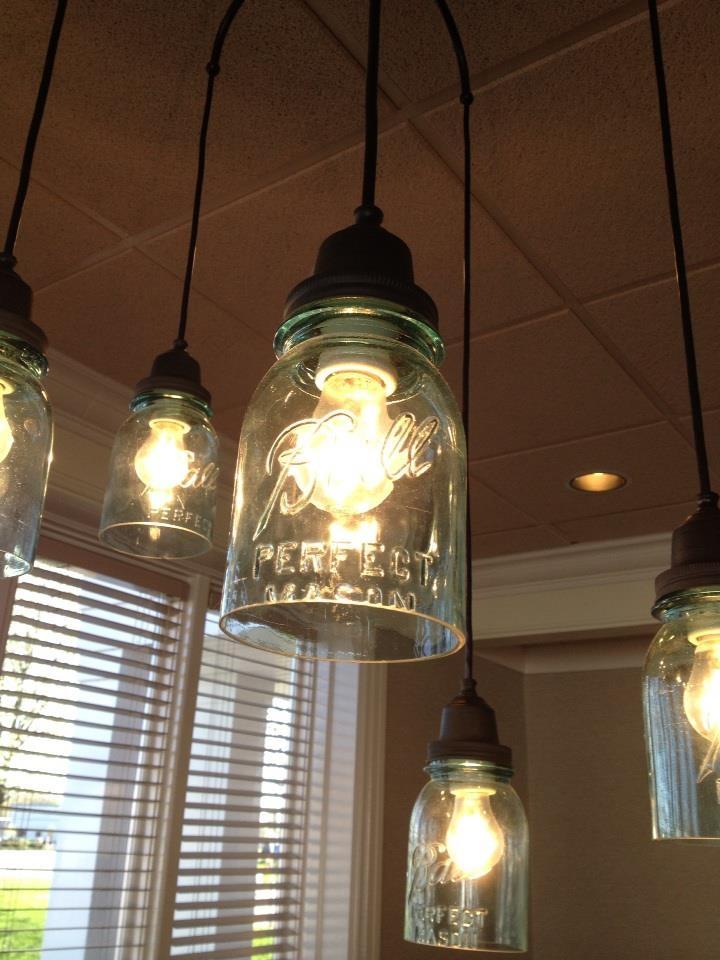 69 best mason jar lights images on pinterest - Mason jar bathroom light fixture ...