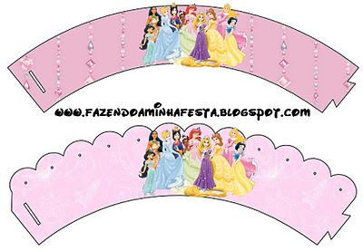 Making My Party!: Disney Princesses (All Together) - Complete Kit with frames for invitations, labels for goodies, souvenirs and pictures!