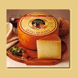 Idiazabal smoked cheese. Basque country.Spain