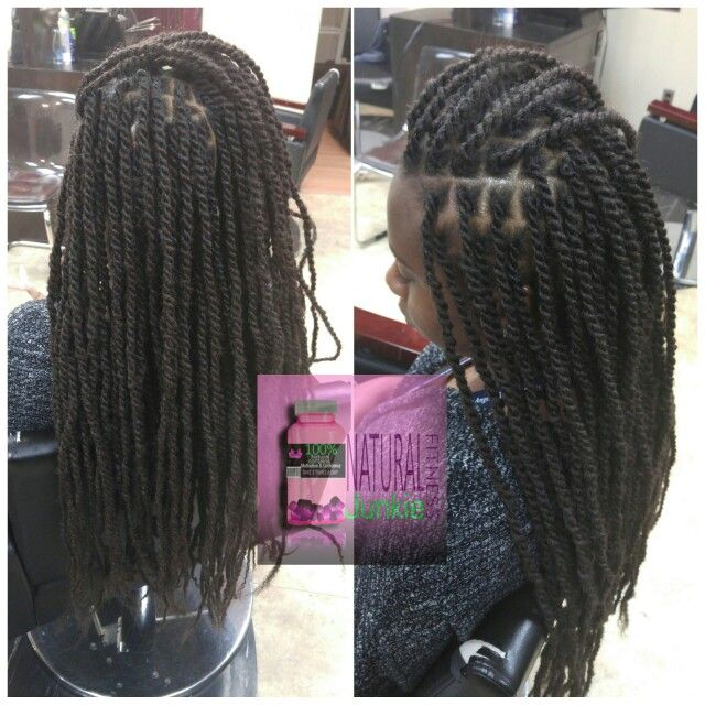 Small marley twists on my client. Located in the dmv area. Instagram: @naturalfitnessjunkie Styleseat.com/lovemynaturalality