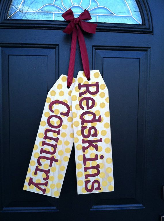 Redskins Door Tags  by TaggedWithLove1 on Etsy, $30.00