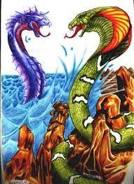 Ten Ten Vilu and Cai Cai Vilu battle - Chiloe mythology