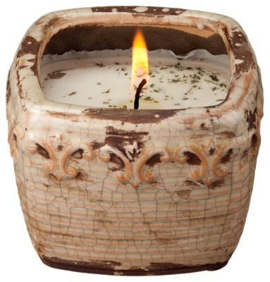 Swan Creek Candle Company Vintage Square Pot Soy Candle - Ginger Nectarine