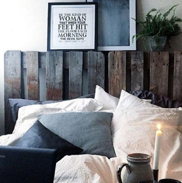 En rå sengegavl
