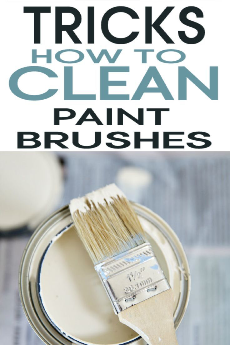Ways To Clean Paint Brushes Cleaning Paint Brushes Paint