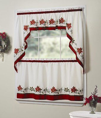 NEW  56 by 12-Inch Holly Valance Perfect For Christmas By Lorraine Home Fashions