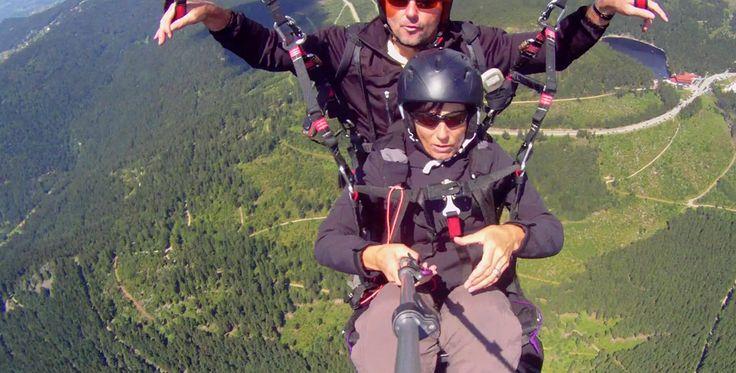 """Gleitschirm Tandemflug """"walk & fly"""" von der Hornisgrinde #Fallschirm #Geschenk #Heimat"""