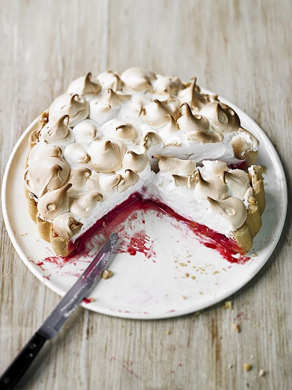 We love lemon meringue pie, but we've given it an update with this raspberry version. It's easy to make but looks really impressive, plus, you can make it ahead, making it perfect for a dinner party dessert.