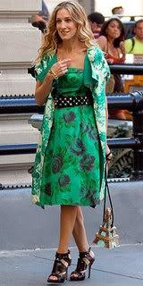 Carrie Bradshaw wearing Extreme Dior Gladiator Platforms