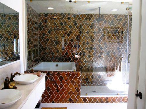 Новинки дизайна плитки для ванны и душевой
