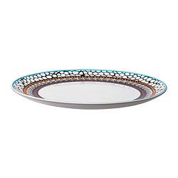 IKEA - DRIFTIG, Plate, Dinnerware with a modern and playful pattern inspired by the fashion world and nature.The dinnerware has the same shape as the solid color series FÄRGRIK, which makes it easy to combine them when you want to create a personal table setting.