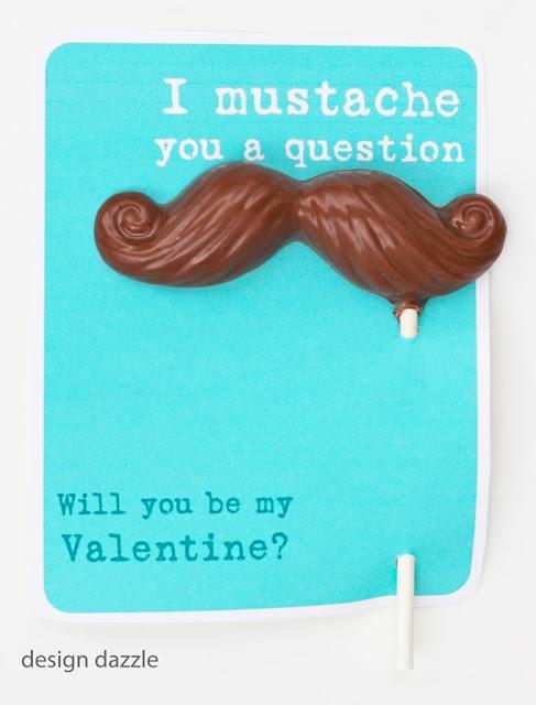 Mustache Valentine Free Printable