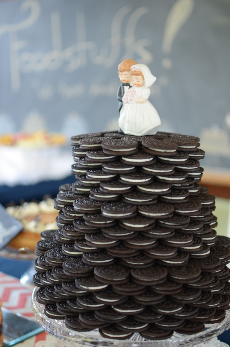Oreo Wedding Cake Wedding Pinterest Groom Cake