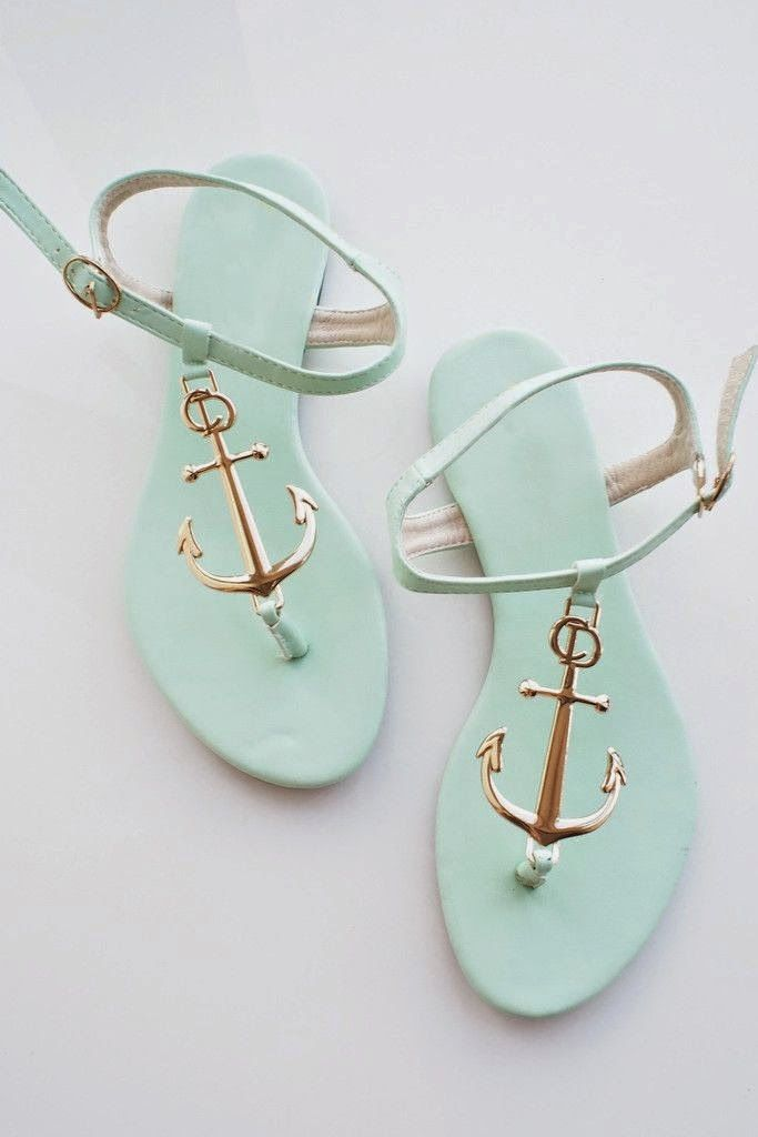 Anchor Sandals. If only there were navy or pale pink