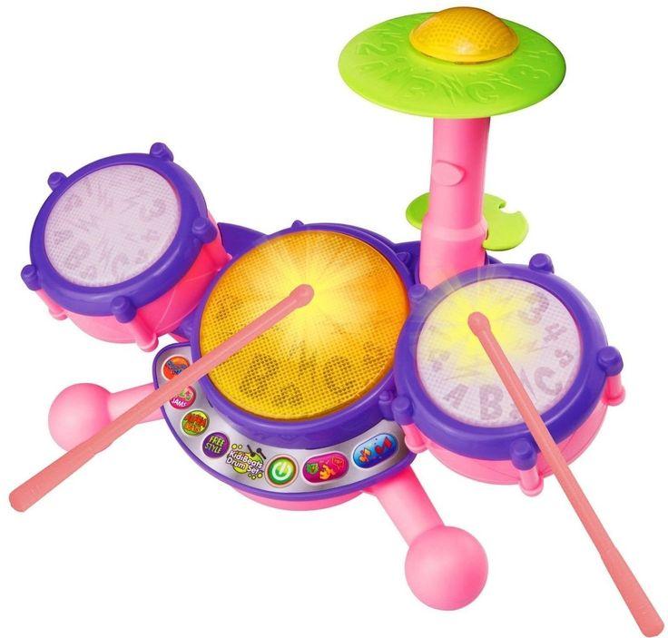 Vtech Kidibeats Drum Set - Pink - Online Exclusive