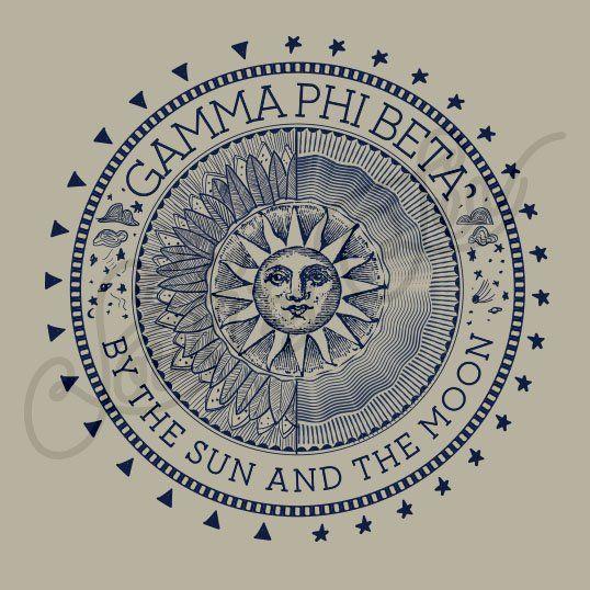 Sorority Recruitment Gamma Phi Beta Sun Moon South By Sea