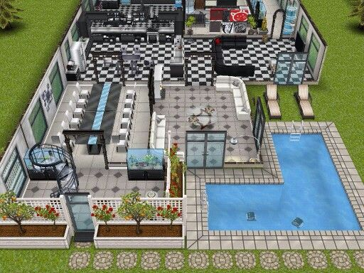 10 best images about the sims freeplay house designs on for Case the sims 3 arredate